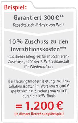 300 euro wolf kesseltausch pr mie bis zum 31 dezember 2014. Black Bedroom Furniture Sets. Home Design Ideas