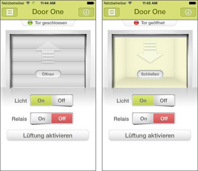 hwc app zur steuerung von bernal garagentor antrieben. Black Bedroom Furniture Sets. Home Design Ideas