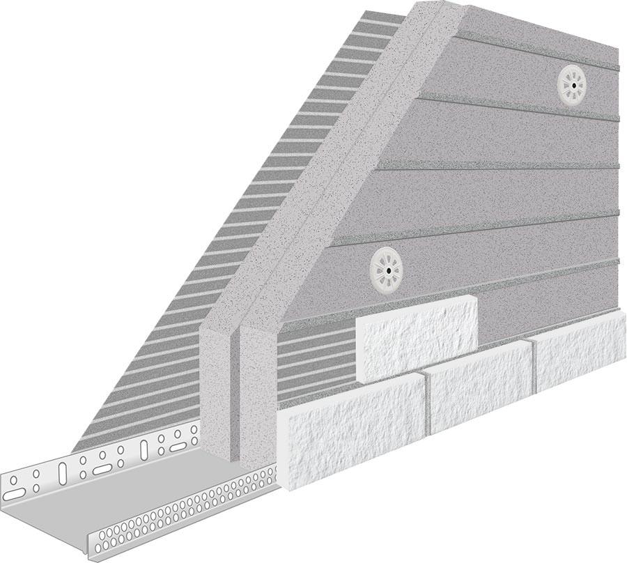 authentisch kalksandstein riemchen auf wdvs. Black Bedroom Furniture Sets. Home Design Ideas