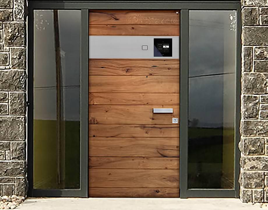 Haustüren holz modern  Neue Haustür-Kollektion von Niveau mit integrierter ...