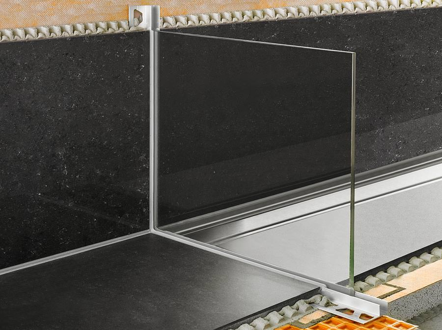 schattenfugenprofil f r rahmenlose duschw nde. Black Bedroom Furniture Sets. Home Design Ideas
