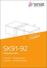 """Siniat Broschüre """"SK91-92 Kabelkanäle"""""""