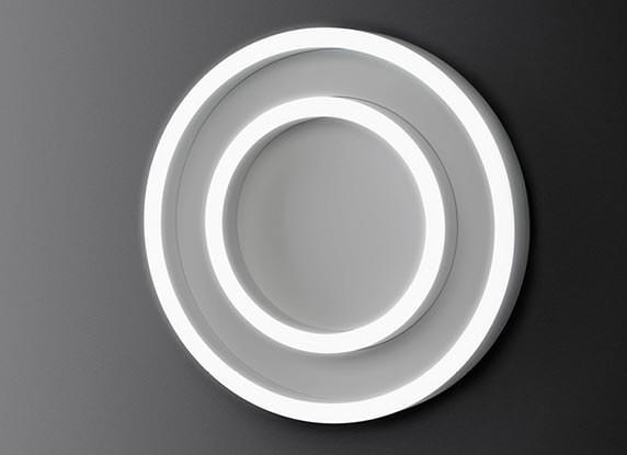 trilux polaron iq led demonstriert den variantenreichtum von 2 lichtringen. Black Bedroom Furniture Sets. Home Design Ideas