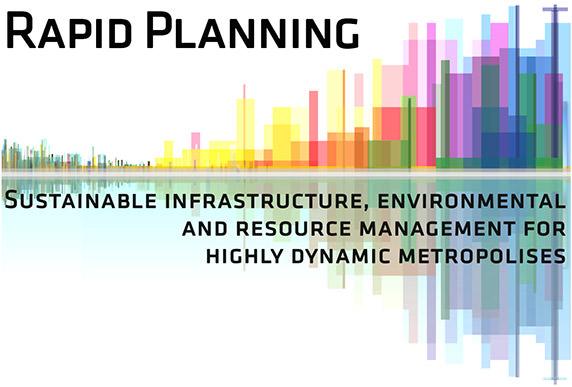 """Logo Forschungsprojekt """"Rapid Planning - nachhaltiges Infrastruktur-, Umwelt- und Ressourcenmanagement für hochdynamische Metropolregionen"""""""