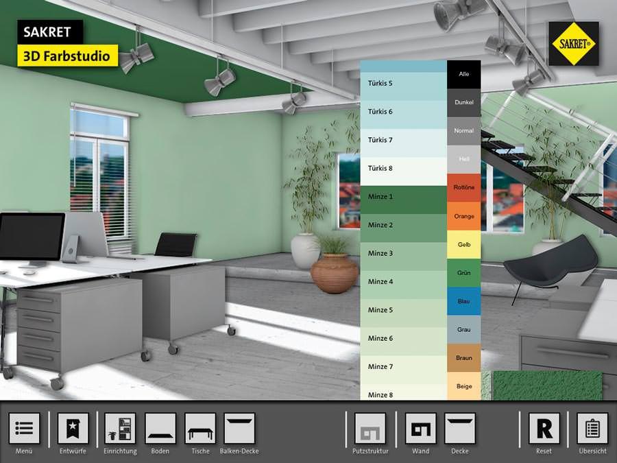 Virtuelles Sakret Farbtonstudio für realitätsnahe Visualisierungen ...