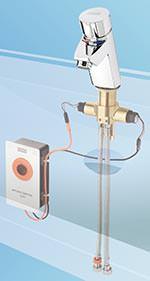 Selbstschlussbatterie Aquamix-S von Franke nun mit optionaler Hygieneeinheit