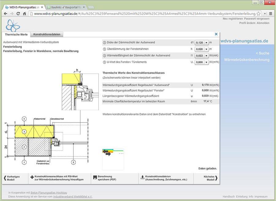 Online: WDVS-Planungsatlas mit vielen konstruktiven und ...