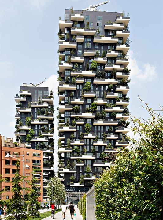 Internationaler hochhaus preis 2014 geht an begr nte wohnhochh user bosco verticale - Appartement design moderne ganna ...