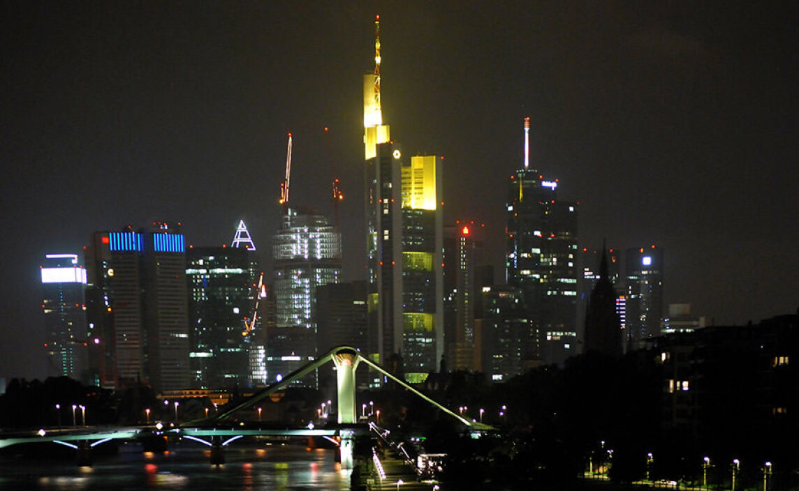 Hochhaus-Silhouette von Frankfurt; Foto: Erich Mehrl, Archiv Mehrl