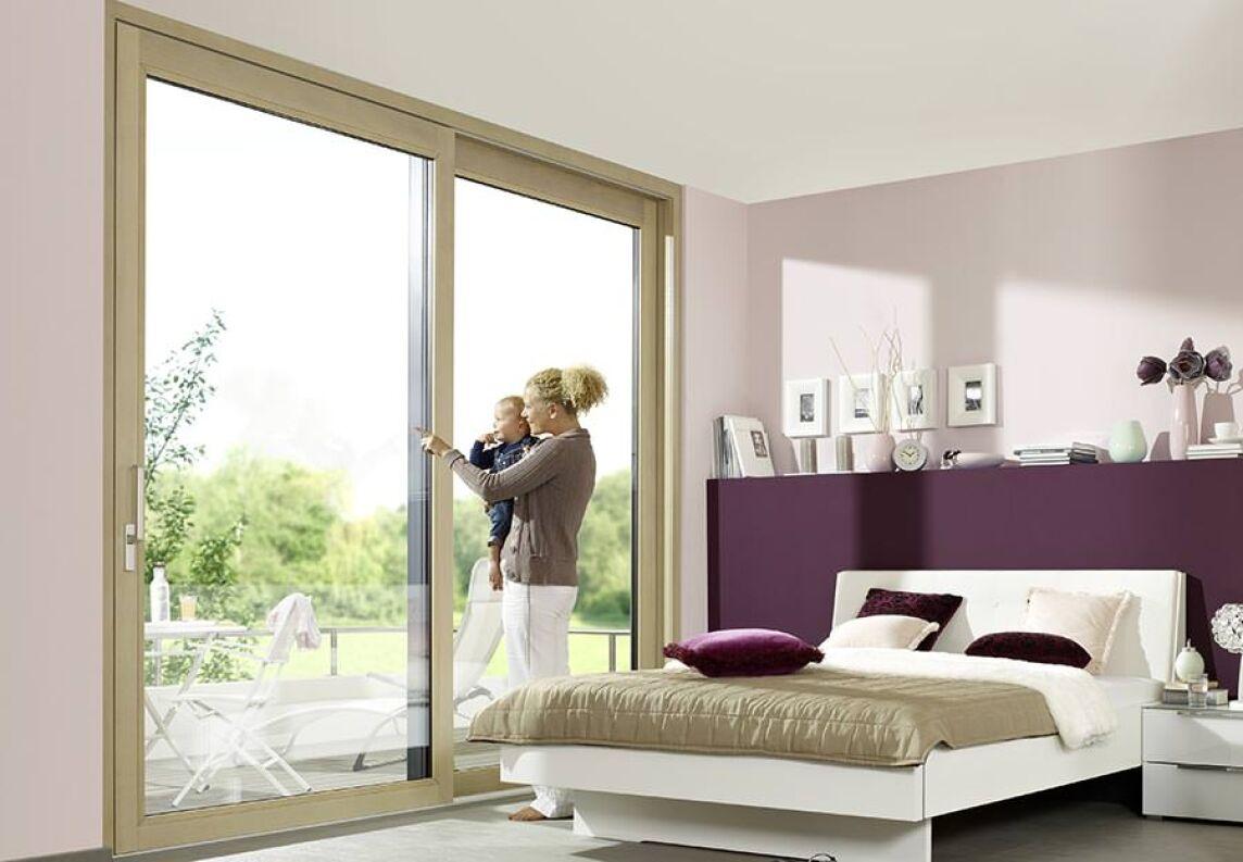Passivhaus-taugliche Holz/Alu-Hebe-Schiebe-Anlage neu von Unilux
