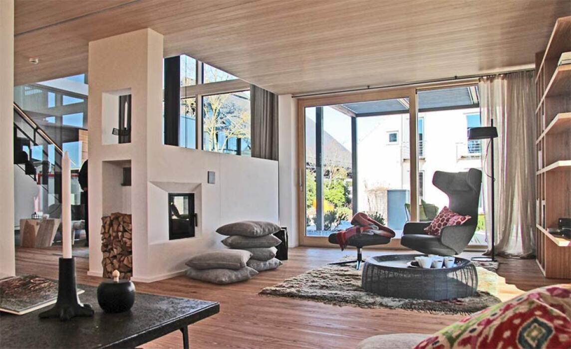 wohnmedizinisch empfohlen architektenhaus alpenchic und s1 von baufritz. Black Bedroom Furniture Sets. Home Design Ideas