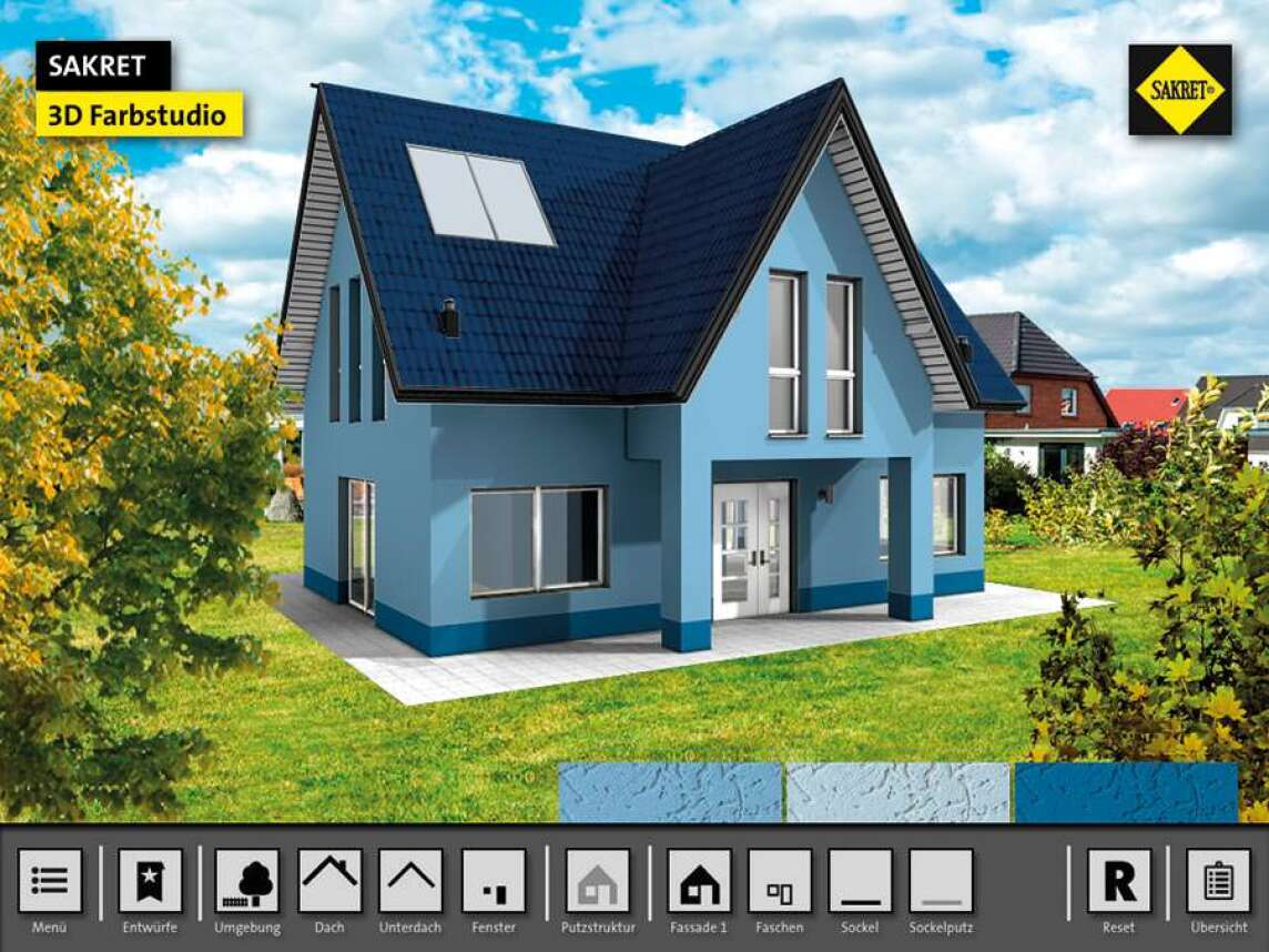 Fassadenfarben konfigurator kostenlos  Virtuelles Sakret Farbtonstudio für realitätsnahe Visualisierungen ...