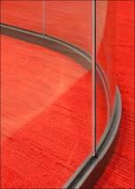 Curved Nurglas-Trennwand fecoplan