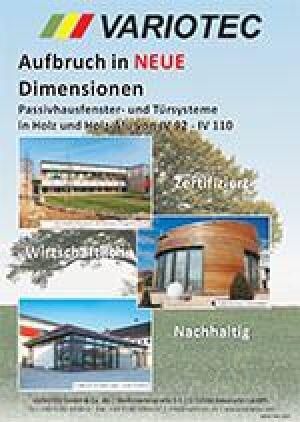 """Variotec Fensterbaubroschüre """"Aufbruch in neue Dimensionen"""""""