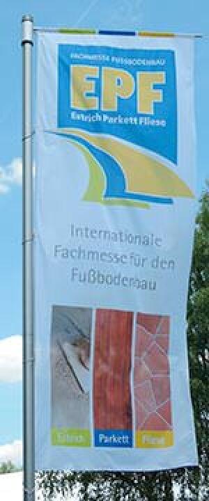 Fahne mit EstrichParkettFliese-/EPF-Logo