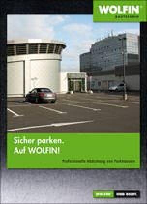 """Broschüre """"Sicher parken. Auf Wolfin!"""""""