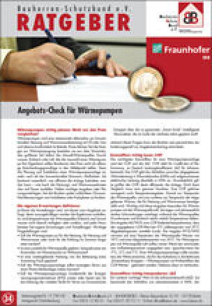Angebotscheck von BSB und Fraunhofer IRB für Wärmepumpen