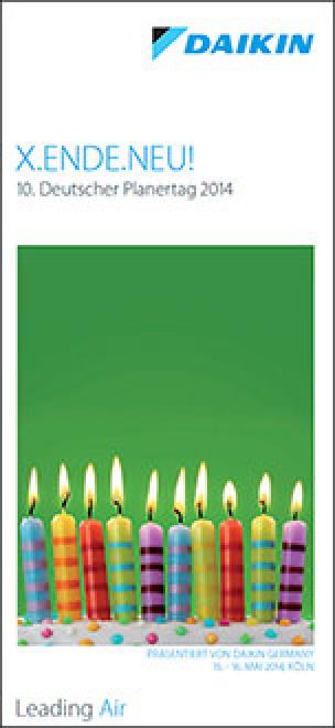 Flyer zum 10. Daikin-Planertag: X.ENDE.NEU