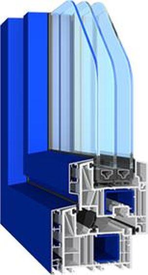 Salamanders bluEvolution 82-Kunststofffenster-System mit Aluvorsatzschale
