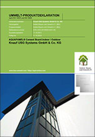 EPD AQUAPANEL® Cement Board Indoor / Outdoor