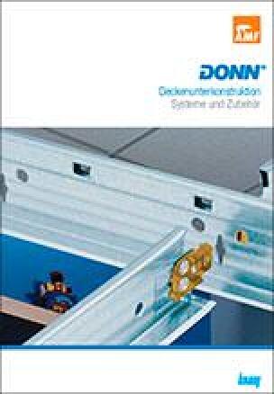 Donn-Katalog für Deckenunterkonstruktionen