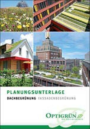 Planungsunterlage von Optigrün zur Dach- und Fassadenbegrünung