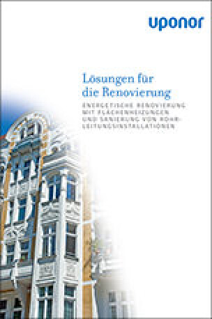 """Broschüre """"Lösungen für die Renovierung"""""""