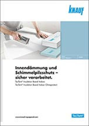 """Broschüre """"Innendämmung und Schimmelpilzschutz- sicher verarbeitet"""" von Knauf Aquapanel"""