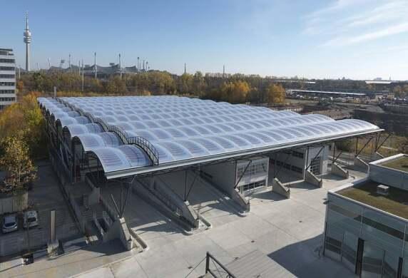 Carport Abfallwirtschaftsamt München, Ackermann und Partner Architekten