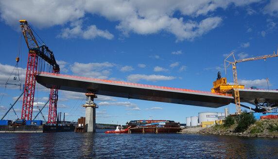 Großbrücke Sundsvall in Schweden: