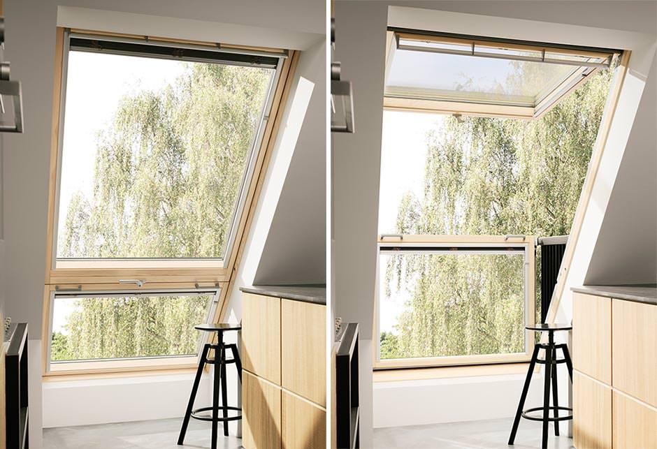 Dachfenster velux cabrio  Neues Cabrio Dachfenster von Velux: mehr Licht, mehr Sicht, mehr Luft