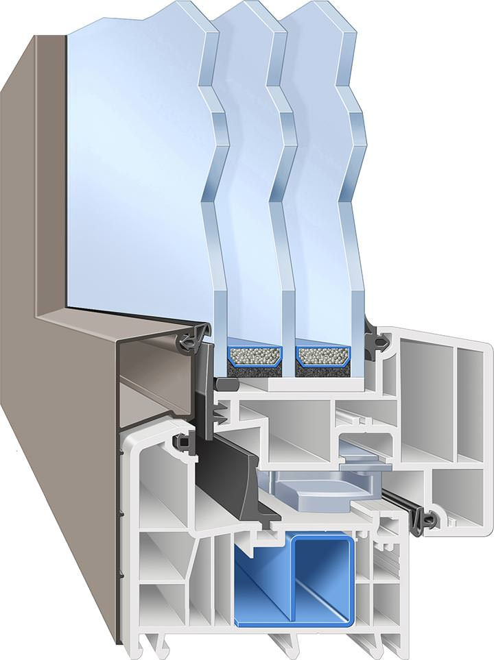 weru bietet afino fenster in differenzierten ausstattungs paketen an. Black Bedroom Furniture Sets. Home Design Ideas