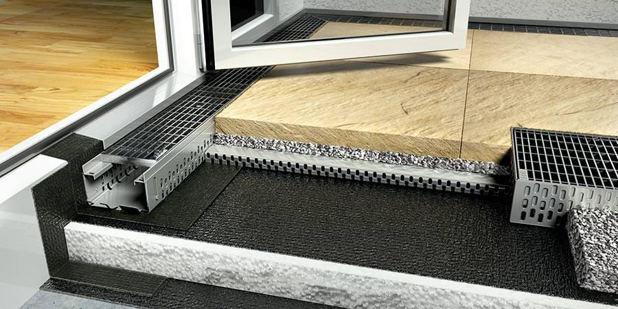 15 cm hohe abdichtung oder eine fassadenentw sserung bei. Black Bedroom Furniture Sets. Home Design Ideas