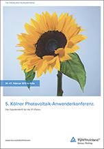 5. Kölner Photovoltaik-Anwenderkonferenz