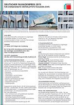 Auslobungsunterlagen zum Deutschen Fassadenpreis 2015 für VHF