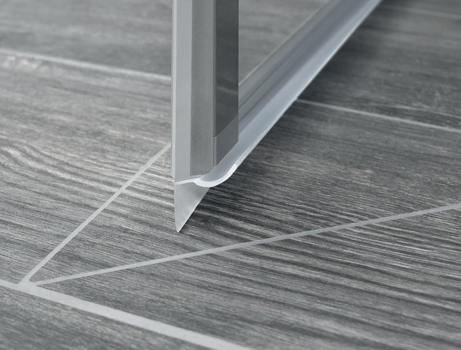 Schiebetüren Ohne Bodenschiene kermis gleittüren für platzsparende duschabtrennungen ohne