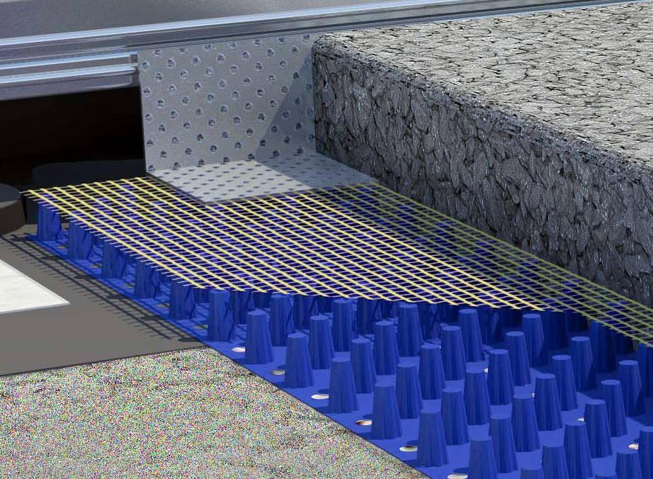 drainmatte verspricht sichere verlegung von naturstein auf. Black Bedroom Furniture Sets. Home Design Ideas