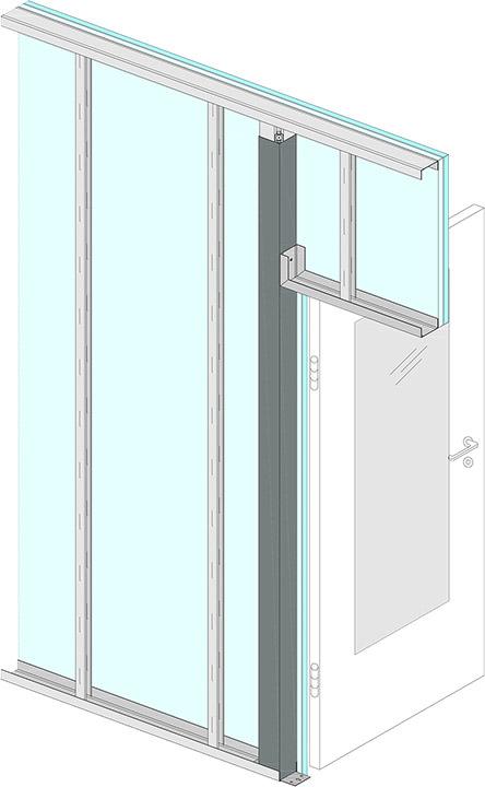 Bekannt Knauf Statikstütze erleichtert Einbau von Türen in leichten YS46
