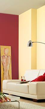 rot ist anregend und belebend als kombinationsfarben eignen sich neben wei und gebrochenen weitnen helltoniges beige creme und vanille sowie zarte - Wandfarbe Creme Rot