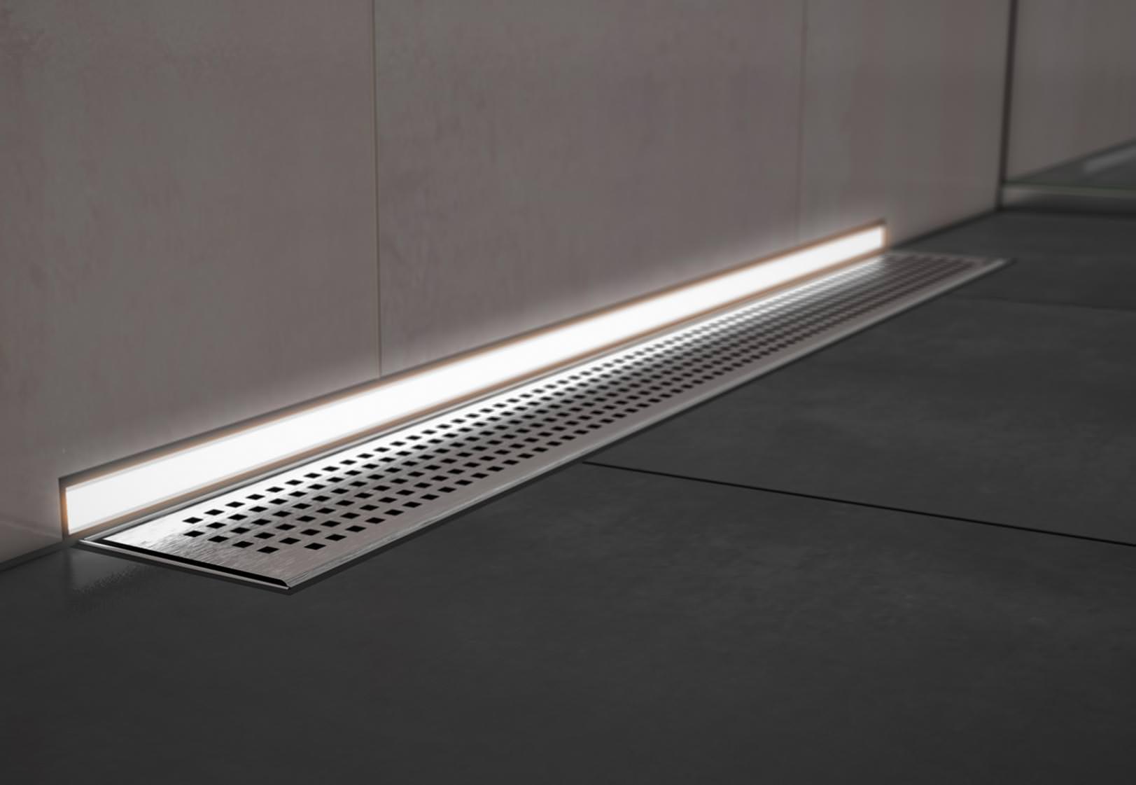 led licht auf ganzer duschentw sserungs linie aber. Black Bedroom Furniture Sets. Home Design Ideas