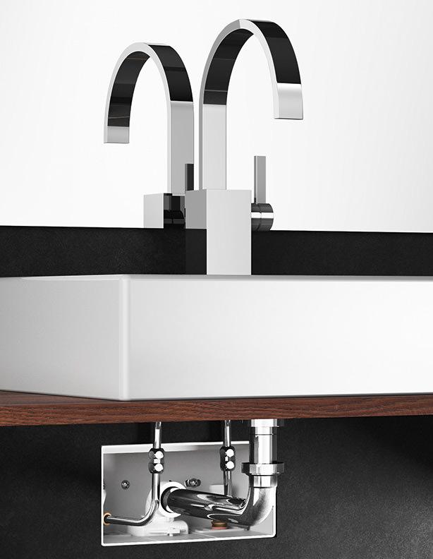 unterputz anschlussbox von viega sorgt unter 39 m waschtisch f r ordnung. Black Bedroom Furniture Sets. Home Design Ideas