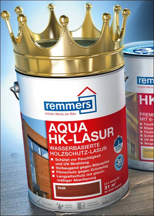 holzschutz grundierung und lasur 3in1 aqua hk lasur neu von remmers bauwesen nachrichten. Black Bedroom Furniture Sets. Home Design Ideas