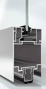 ungedämmtes Schüco ADS 65.NI FR 30 System