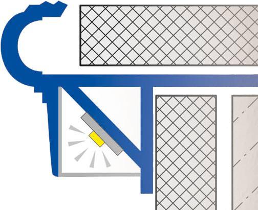 indirekte treppenbeleuchtung per leds im stufenprofil. Black Bedroom Furniture Sets. Home Design Ideas