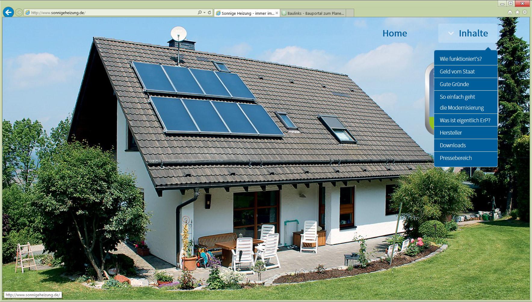 sonnige heizung immer im plus eine neue solarthermie. Black Bedroom Furniture Sets. Home Design Ideas