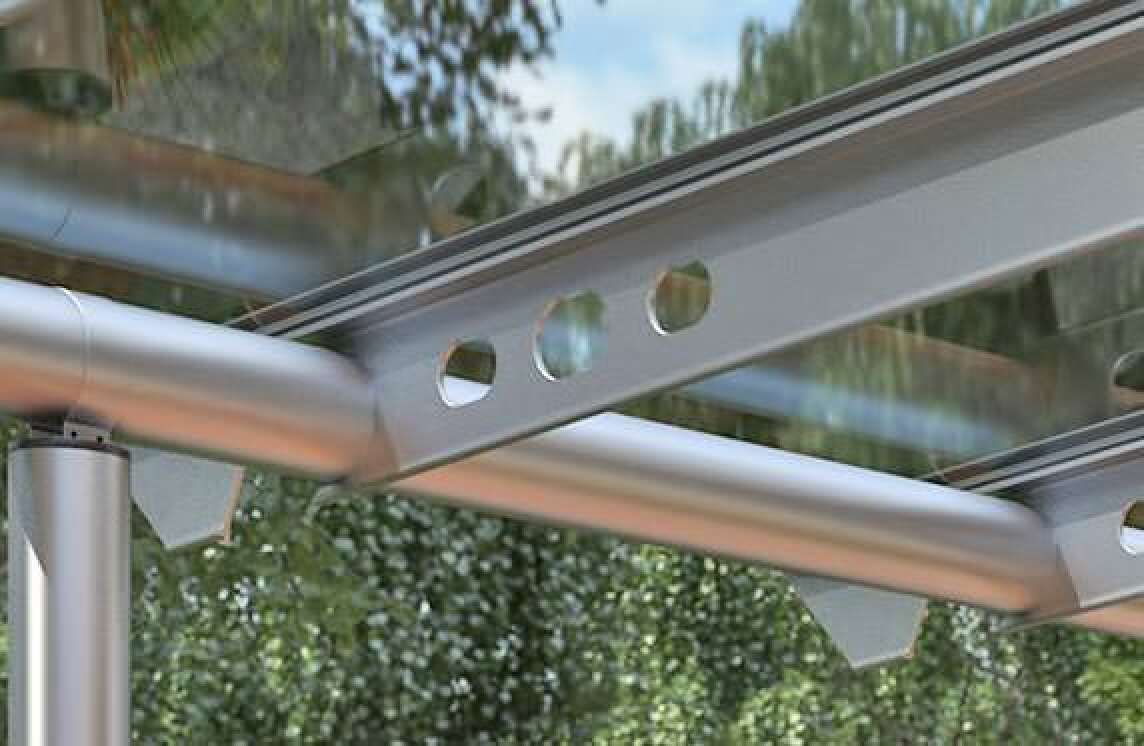 anova solarlux stellt terrassendach mit schwimmender schiebeverglasung vor. Black Bedroom Furniture Sets. Home Design Ideas