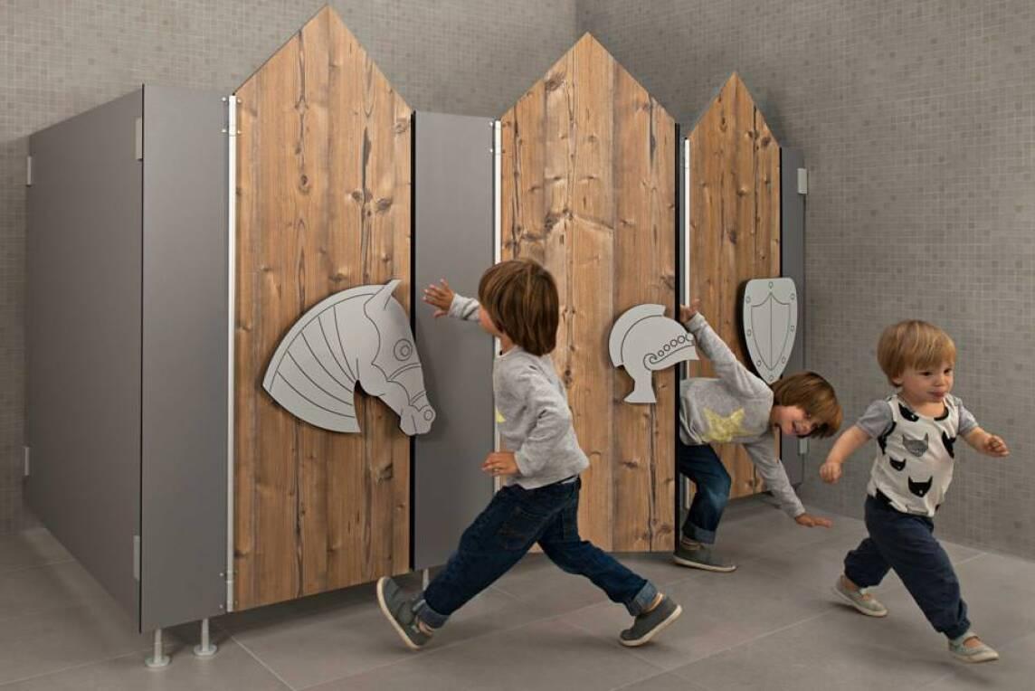 neues wc trennwandsystem von kemmlit l sst kindertr ume wahr werden. Black Bedroom Furniture Sets. Home Design Ideas