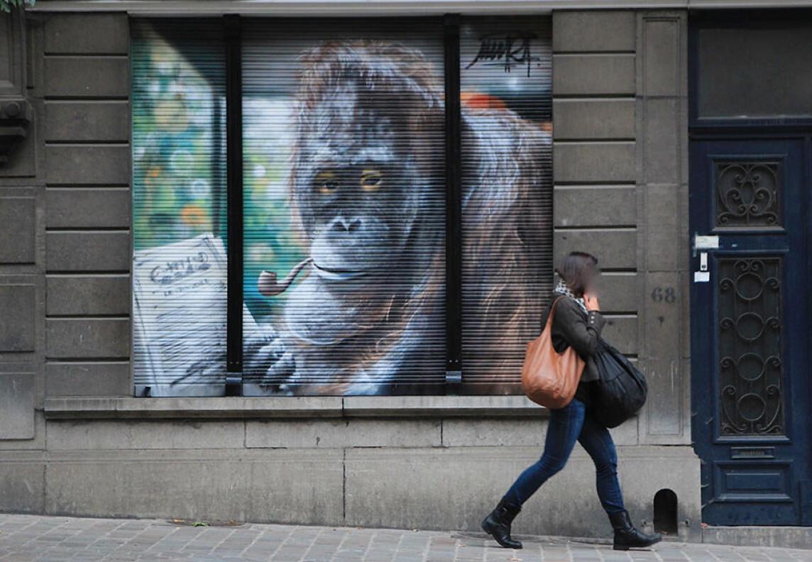 Graffitikunst: Auftragsarbeit von Mantra in Brüssel