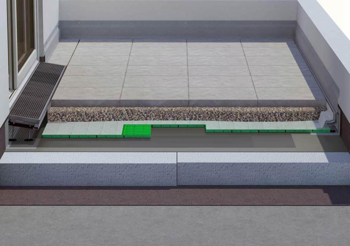 trittschallschutz auf dachterrassen und balkonen la gutjahr. Black Bedroom Furniture Sets. Home Design Ideas