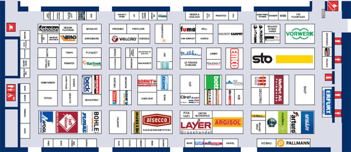 Belegungsplan der Halle A6